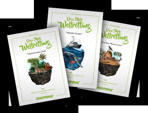 Greenpeace Austria Dein Stück Weltrettung Urkunde